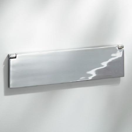 Internal Letter Box Flap Polished Chrome 300mm