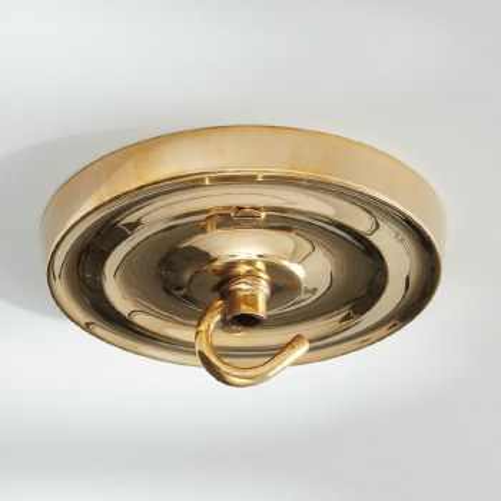 Ceiling Hook Large Polished Brass