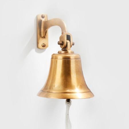 """Ships Bell 5"""" Antique Satin Brass"""