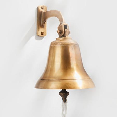 """Ships Bell 6"""" Antique Satin Brass"""