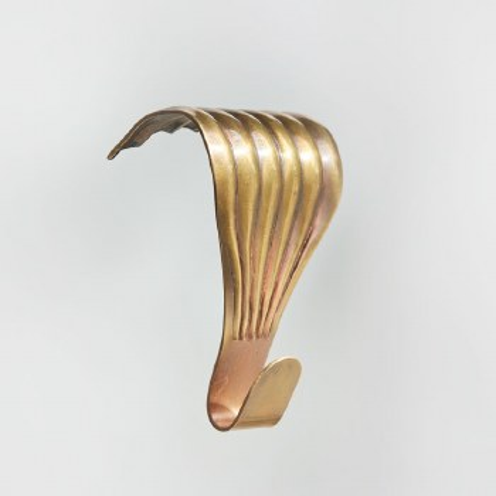 Picture Rail Hook Antique Satin Brass Single