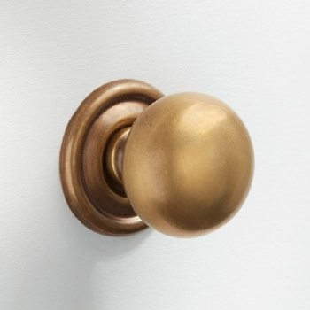 Plain Cupboard Door Knob 32mm Antique Satin Brass