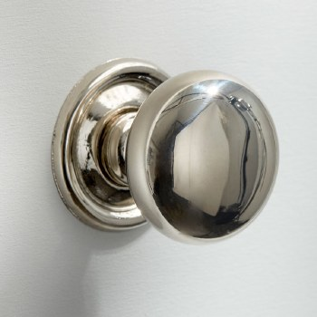 38mm Plain Cupboard Door Knob Polished Nickel