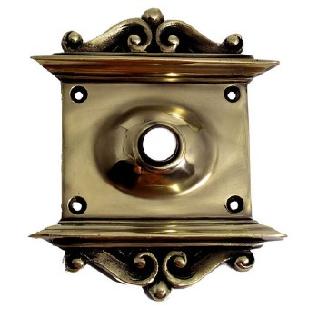 """Decorative Plate with 1/2"""" Hole Polished Brass"""