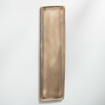 Raised Finger Plate Renovated Brass