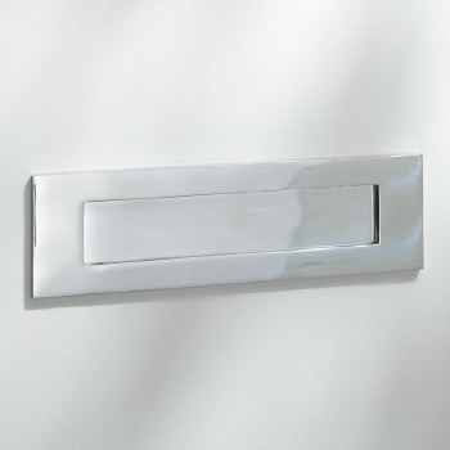 Letter Plate Polished Chrome 250mm