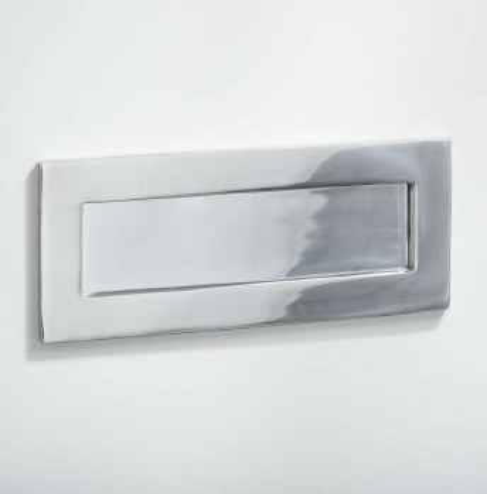 Letter Plate Polished Chrome 255mm