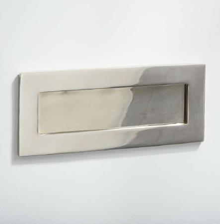 Letter Plate Polished Nickel 255mm
