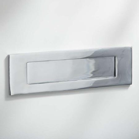 Letter Plate Polished Chrome 300mm