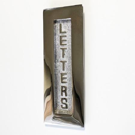 Vertical Letter Plate Polished Nickel 280mm