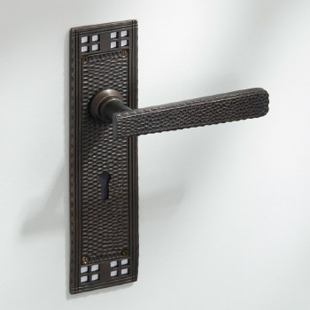 Arts & Crafts Door Handles Lock Plate