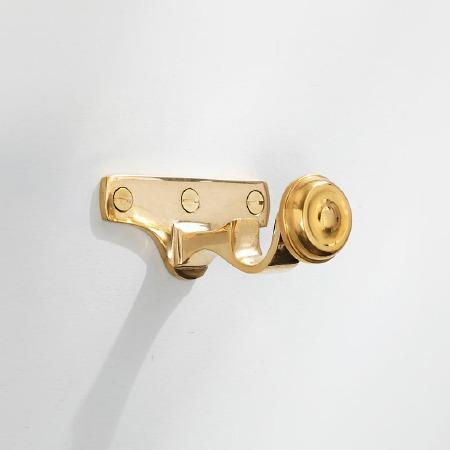 Curtain Pole Centre Bracket for 19mm Pole Polished Brass