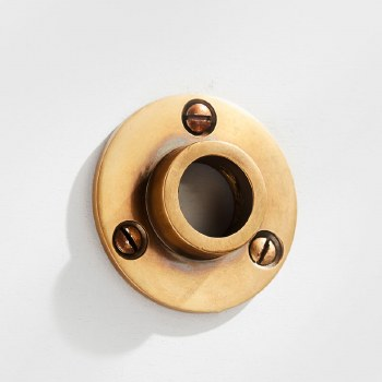 Curtain Pole Socket for 19mm Pole Antique Satin Brass