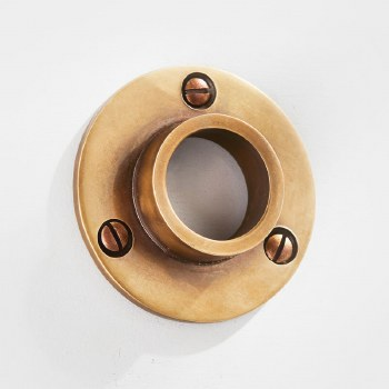 Curtain Pole Socket for 25mm Pole Antique Satin Brass