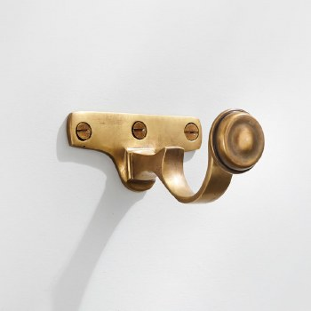 Curtain Pole Centre Bracket for 32mm Pole Antique Satin Brass