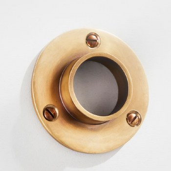 Curtain Pole Socket for 32mm Pole Antique Satin Brass