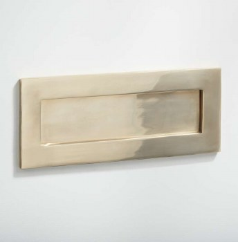 Letter Plate Polished Brass Unlacquered 255mm