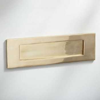 Letter Plate Polished Brass Unlacquered 300mm