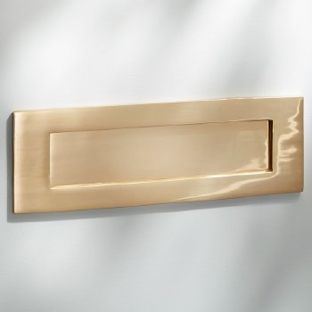 Letter Plate Polished Brass Unlaquered 353mm