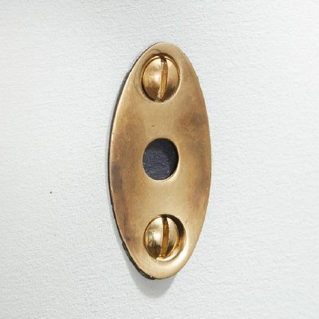 Mortice Bolt Escutcheon Renovated Brass Look