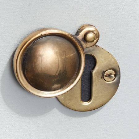 Round Covered Escutcheon Renovated Brass