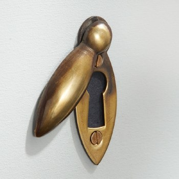 Teardrop Escutcheon Renovated Brass