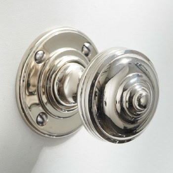 Turban Door Knobs Polished Nickel