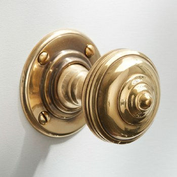 Turban Door Knobs Renovated Brass
