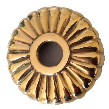 Fluted Round Dome Only Polished Brass Unlacquered