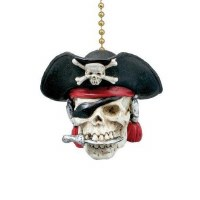 Fan Pull Pirate Skull