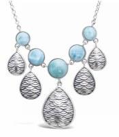 Necklace Mermaid 5 Bezel Larim
