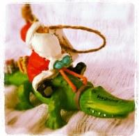 Ornament Santa Alligator