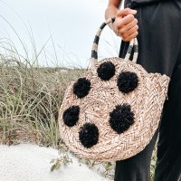Tote Pom Pom Circle Black