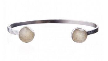 Bracelet Inlet Cuff Silver NSB