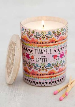 Candle Thankful & Grateful