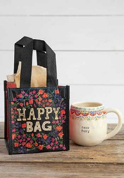 Happy Bag Floral Black/Cream