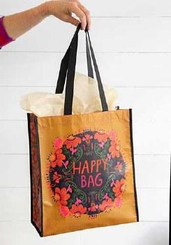 Happy Bag Floral Mustard/Pink