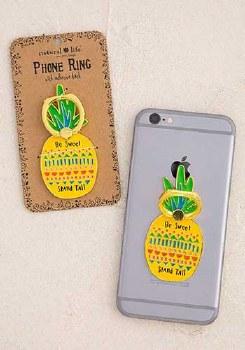 Phone Ring Enamel Pineapple