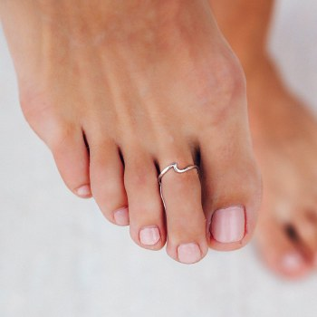 Ring Toe Wave Silver