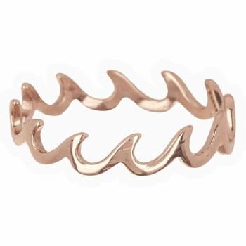 Ring Wave Band Rose Gold Sz 5