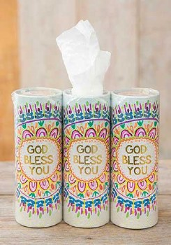 Car Tissue God Bless You