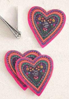 Emery Board Heart S/3