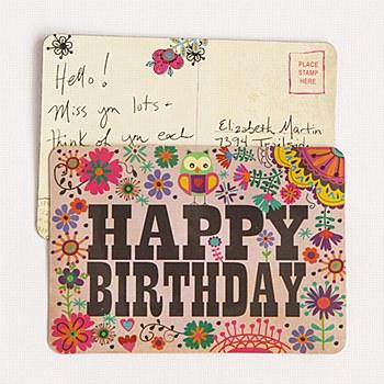 Magnet Postcard Happy Birthday