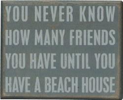 Box Sign Beach House Friends
