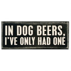 Box Sign In Dog Beers