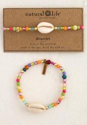 Bracelet Charm Beaded Shell