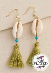 Earrings Seaside Tassel Olive