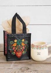Happy Bag Folk Heart Black