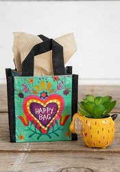Extra Small Turquoise Heart Happy Bag