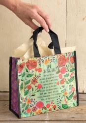 Giving Bag Flower Turq/Rust